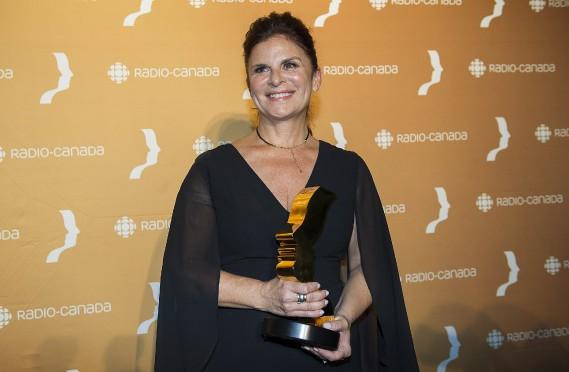 Guylaine Tremblay a gagné leMeilleur premier rôle féminin : série dramatique annuelle, pour sa performance dans Unité 9. (Photo La Presse Canadienne)