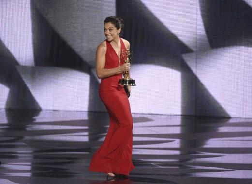 Tatiana Maslany, meilleure actrice principale dans une série dramatique pour Orphan Black. (AP)
