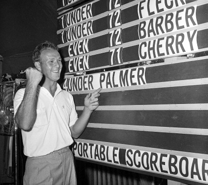Arnold Palmer en 1960. (Photo archives AP)