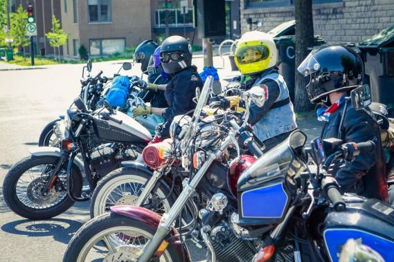 En mai dernier, 10 filles membres<em>Les Litas</em>de MontrŽéal ont mis le cap sur Narrowsburg, dans l'ƒÉtat de New York, pour participer au Babe's Ride Out East Coast, une rencontre annuelle réŽservéŽe aux femmes motocyclistes. (PHOTO JOSƒÉE LECOMPTE, FOURNIE PAR ONELAND.)
