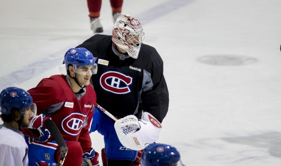 Max Pacioretty et Carey Price (Photo Marco Campanozzi, La Presse)