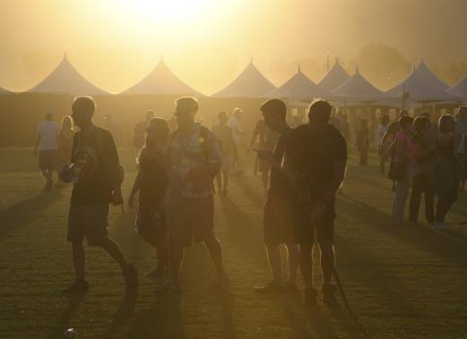 Le festival Desert trip - jeu de mots évoquant le voyage ou l'hallucination sous l'effet de drogues dans le désert - a démarré vendredi pour trois jours, et doit recommencer à l'identique la fin de semaine prochaine. (AFP, Mark Ralston)