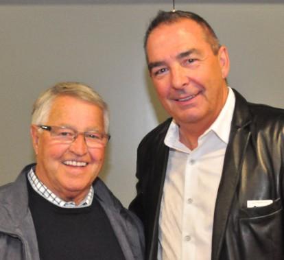Rencontre de deux géants! Michel Bergeron et Ronald Lavertu. (Gilles Joubert)