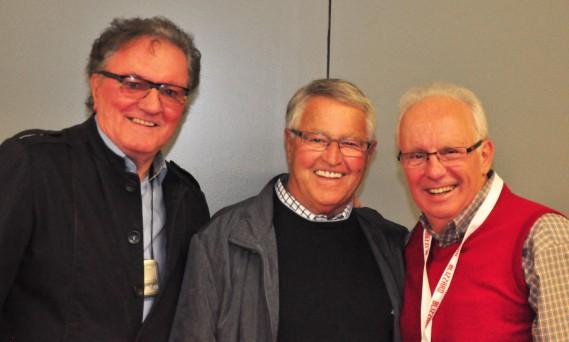 Des amis de longue date se sont souvenus de la belle époque des Draveurs. Claude Loranger, Michel Bergeron et René Goyette. (Gilles Joubert)