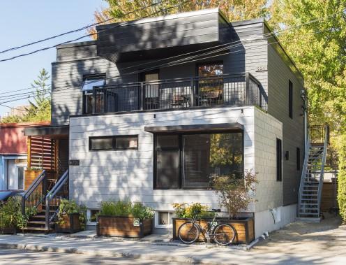 Dans la catégorie Rénovation et agrandissement, le 670, rue Kirouac, dans l'arrondissement de La Cité-Limoilou (Photo fournie par les Mérites d'architecture)
