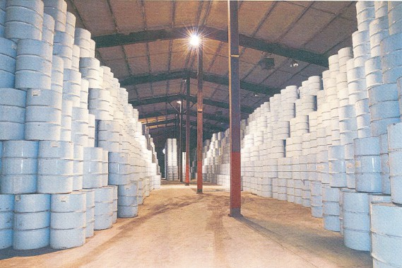 Cette photo de l'entrepôt de Saint-Louis-de-Blandford a été prise par la Sûreté du Québec en août 2012, soit après que le vol de sirop d'érable eut été constaté. (Sylvain Mayer, Le Nouvelliste)