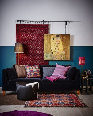 Un tapis suspendu peut remplacer ou côtoyer une oeuvre d'art pour habiller un mur. Voici une suggestion d'IKEA (Photo fournie par IKEA Canada)