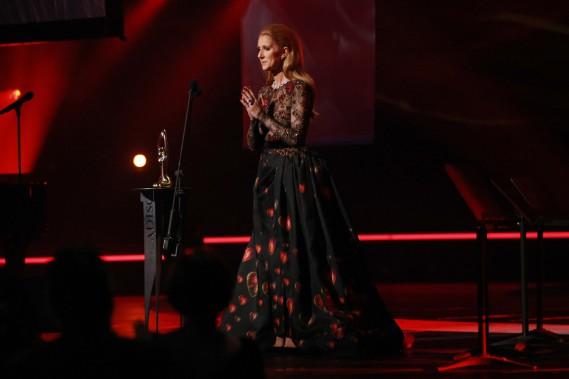 Céline Dion est venue recevoir le Félix d'honneur remis à René Angélil. (PHOTO Martin Chamberland, LA PRESSE)