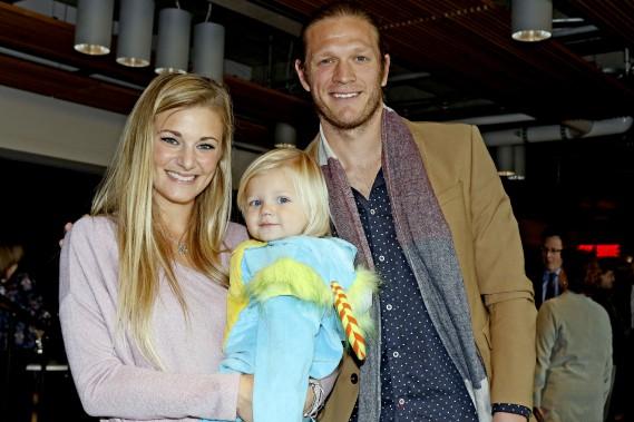Lance Rozeboom était accompagné par sa fille et sa femme Kristin. (Patrick Woodbury, LeDroit)