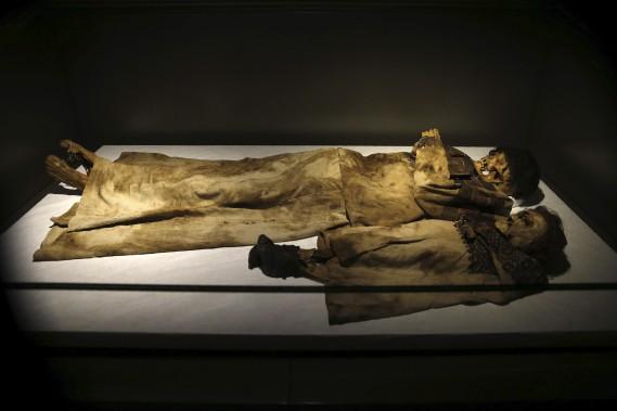 Corps naturellement momifiés (13e siècle avant J.-C.) (AFP, Joseph Eid)