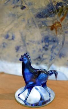 Un cheval en verre soufflé (Le Soleil, Erick Labbé)