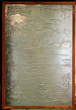 Un mur décoratif en verre fusion (Le Soleil, Erick Labbé)