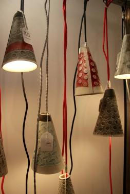 Coup de coeur, pour les lampes suspendues en céramique de KG Céramique. Effet «WOW» assuré! (Mélissa Bradette)