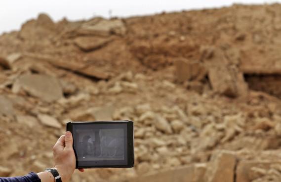 Située sur les bords du fleuve Tigre, Nimrod est l'un des sites archéologiques les plus célèbres d'Irak, pays souvent décrit comme le berceau de la civilisation. (AFP)
