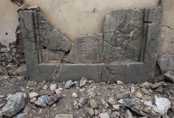 Située sur les bords du fleuve Tigre, Nimrod est l'un des sites archéologiques les plus célèbres d'Irak, pays souvent décrit comme le berceau de la civilisation. (AP, Hussein Malla)