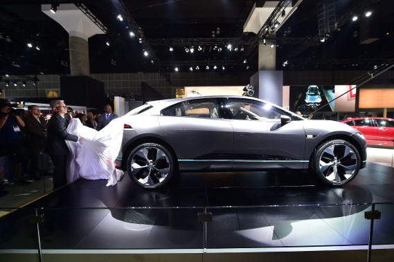 Le prototypeJaguar I-PACE électrique. (AFP)