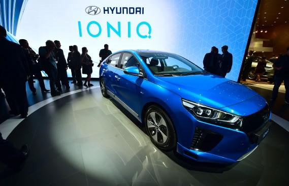 La Hyundai Ioni, une voiture tout électrique. (AFP)