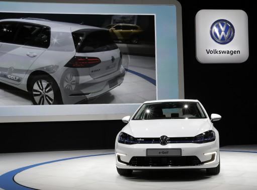 La Volkswagen e-Golf électrique. (AP)