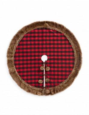 Cache-pied d'arbre à carreaux bordé de similifourrure Modern Cabin, 89,99 $ chez La Baie (Fournie par La Baie)