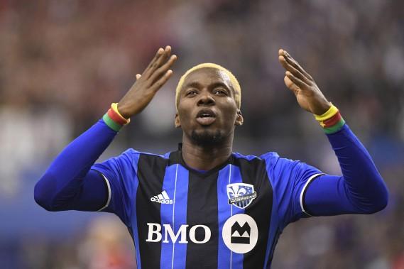 Ambroise Oyongo a inscrit le 3e but de l'Impact. (BERNARD BRAULT, LA PRESSE)
