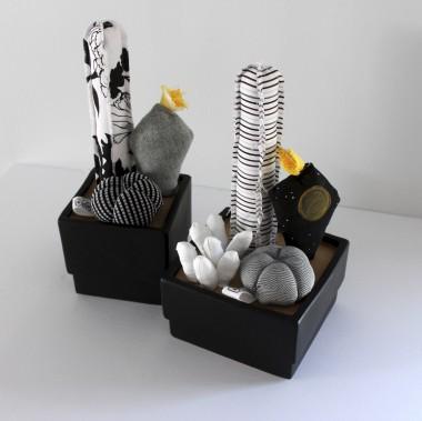 La boutique tient des produits complémentaires, comme les cactus en tissu de Dominique Shields, alias Coussins de Belle-mère, qui travaille dans l'équipe de Folia Design. (Fournie par Folia Design)