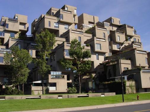 Habitat 67 est l'oeuvre de l'architecte Moshe Safdie. Cet ensemble de logements, situé à la Cité du Havre, a été construit dans les années 1960, dans le cadre d'Expo 67. (Archives Le Quotidien)