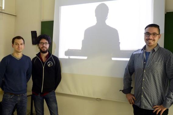 Jonathan Gagné, Louis Moulin et Frédéric L. Tremblay proposent trois courts métrages complètement différents. (Photo Le Progrès-Dimanche, Jeannot Lévesque)