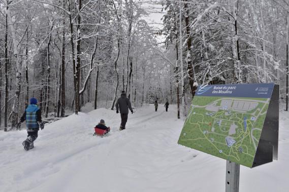 Le terrain de 20hectares rendu accessible fait ainsi tripler la superficie du parc des Moulins, qui était jusqu'à présent situé dans la partie est de l'ancien Jardin zoologique de Québec. (Le Soleil, Pascal Ratthé)