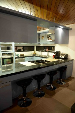 La cuisine de la maison d'origine, rénovée il y a plusieurs années par les parents de Marie-Ève (Le Soleil, Erick Labbé)