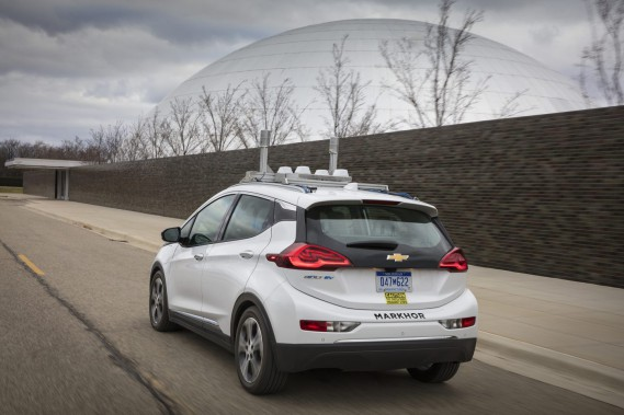 Les Bolt autonomes circulent depuis la fin 2015 dans les chemins privés du Warren Tech Center de GM, à 30 km au nord de Detroit. (Photo : General Motors)