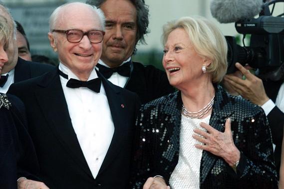 Le réalisateur Gérard Oury et sa femme Michèle Morgan au Festival de Cannes en mai 2001. (Photo archives Reuters)