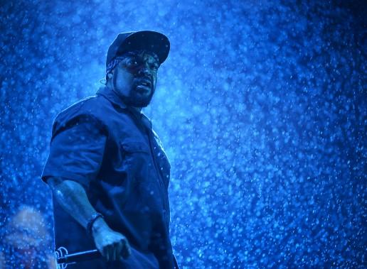 Le spectacle du rappeur Ice Cube, sous la flotte, le 9 juillet, au Festival d'été. (Le Soleil, Yan Doublet)