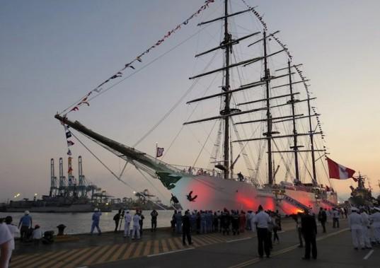 Le BAP Unión est un navire-école de classe militaire de la Marine péruvienne. (Photo tirée du site de RDV 2017)