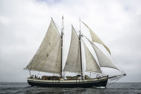 Le Mist of Avalon, un ancien navire à moteur, est devenu un voilier de classe B s'appuyant sur la tradition des goélettes de la fin du 19e siècle. (Photo tirée du site de RDV 2017)