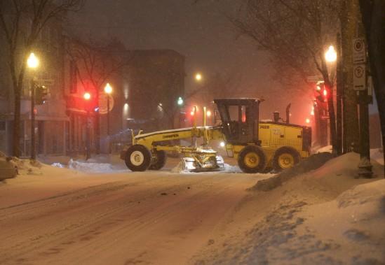La machinerie de la Ville de Québec était déployée partout mercredi. (Le Soleil, Yan Doublet)