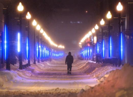 Plus facile de marcher dans la rue que sur les trottoirs par endroit. (Le Soleil, Yan Doublet)