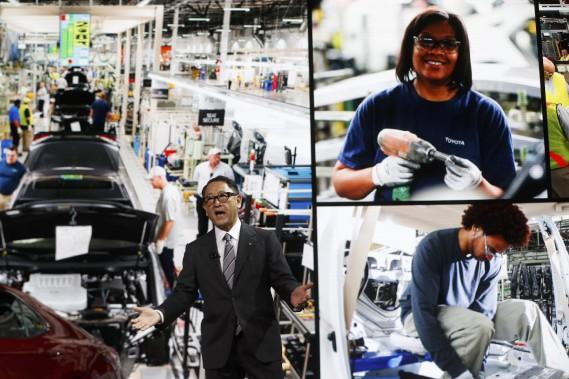 Akio Toyoda a rappelé que la compagnike qu'il dirige et dont il a hérité emploie 40 000 personnes aux États-Unis. (REUTERS)
