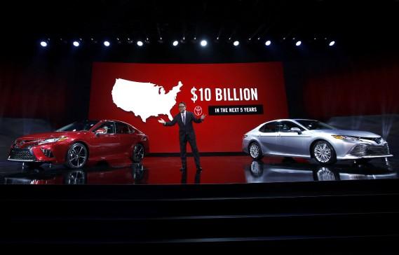 Le président Akio Toyoda, de Toyota Motor Corporation, a annoncé un investissement de 10 millards aux États-Unis d'ici dix ans. (REUTERS)