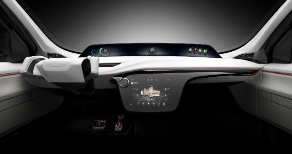 L'élégant écran logé au milieu du tableau de bord commande la radio et la climatisation. Plus haut, un second affichage informe le conducteur de l'état du véhicule, ce qui peut s'avérer utile, Chrysler rêvant de concevoir un système de conduite autonome de niveau 3 conforme au besoin qu'ont les milléniaux de se déplacer sans conduire tout le temps. ()