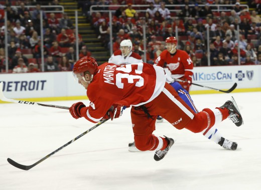 Anthony Mantha en action. (Photo Paul Sancya, AP)