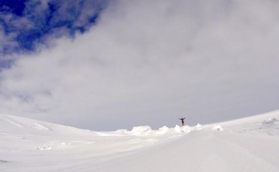 Sébastien Lapierre savait que ce serait sûrement les moments les plus froids à venir. Mais le but approchait. À moins de 225 km du pôle Sud, il franchissait enfin le 88<sup>e</sup>parallèle. (Sébastien Lapierre - polesud2016.com)