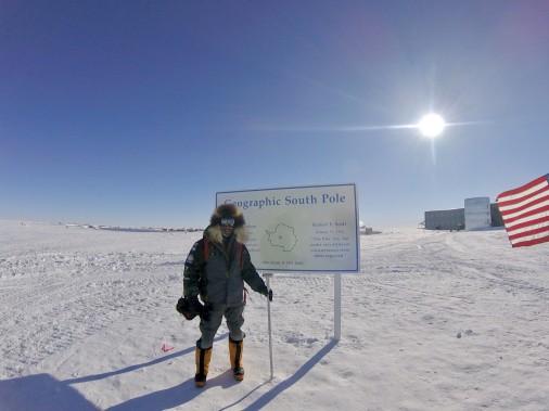 Le pompier de Québec Sébastien Lapierre a atteint son objectif le 9 janvier, après 42 jours et 5 heures d'expédition. (Sébastien Lapierre - polesud2016.com)