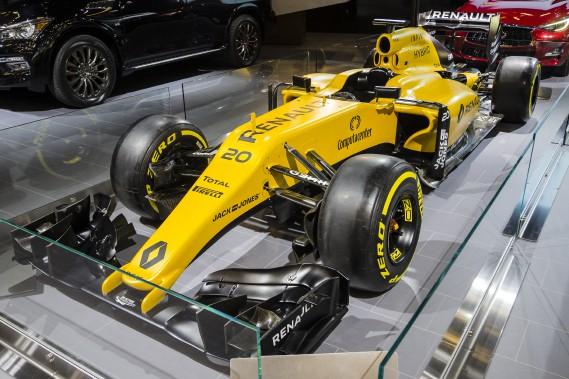 La R.S.16 de l'écurie de Formule 1 Renault. (Photo Édouard Plante-Fréchette, La Presse)