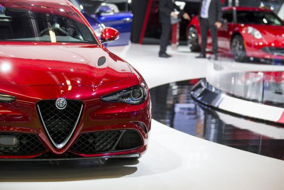 L'Alfa Roméo Giulia. (La Presse Marco Campanozzi)