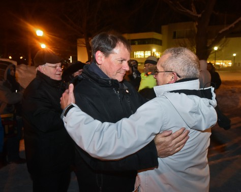 Le conseiller municipal et candidat confirmé à la mairie de Trois-Rivières pour les prochaines élections municipales, Jean-François Aubin, était aussi au nombre des participants. (François Gervais, Le Nouvelliste)