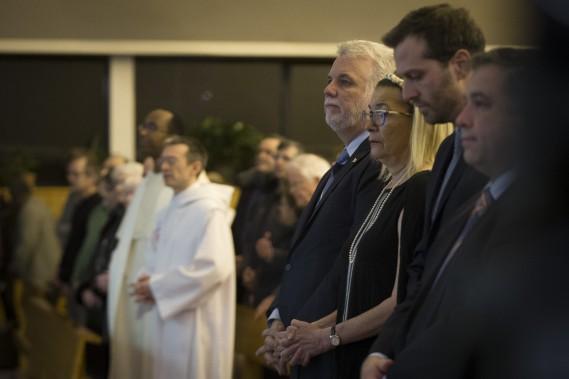 Le premier ministre Philippe Couillard était présent. (PHOTO OLIVIER JEAN, LA PRESSE)