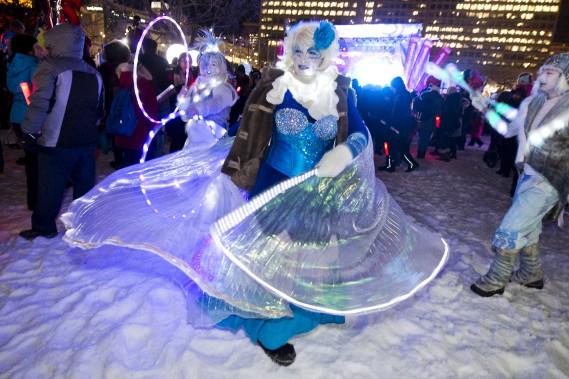Le coup d'envoi des festivités a été donné vendredi soir au parc de la Confédération à Ottawa. (Martin Roy, Le Droit)