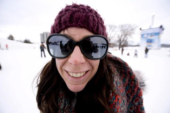 La température ressentie de -13 degrés Celsius n'a pas refroidi la bonne humeur des festivaliers... (Martin Roy, Le Droit)