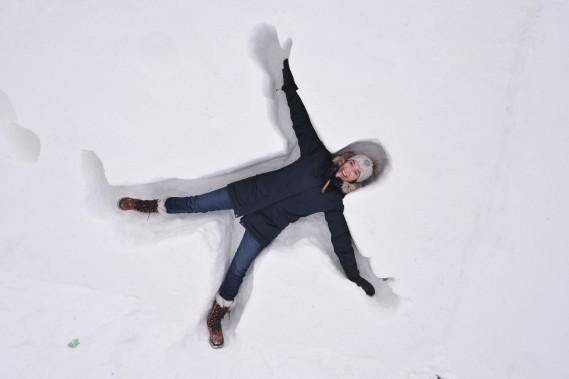 ... et heureux de profiter des joies de la neige. (Martin Roy, Le Droit)