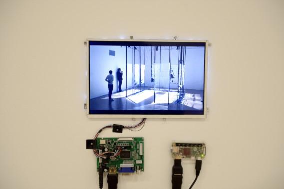 Une vidéo permet de découvrir la démarche artistique de Paolo Almario. (Photo Le Progrès-Dimanche, Jeannot Lévesque)